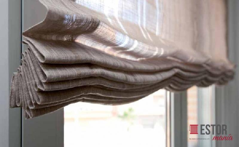 caractersticas tcnicas de los estores de paqueto en lino