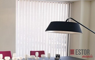 Cortinas lamas verticales de screen sun glass 10 blanco - Cortinas lamas verticales ...