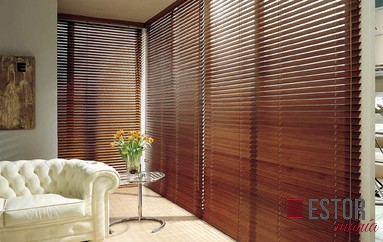 Persianas venecianas de madera 50mm c 313 for Cortinas venecianas madera