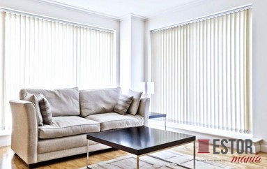 Cortinas lamas verticales de screen Sun Glass 10 Blanco-Sable