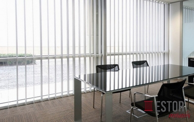 Cortinas lamas verticales de screen Sun Glass 5 Bicolor C-Desierto