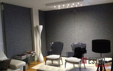 Cortinas enrollables screen Luxe Confort 1000 Blanco-Lino