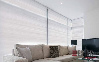 Cortinas enrollables screen 0207 Blanco - perla N-203