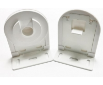 Soportes para estores enrollables tubo de 43mm blanco