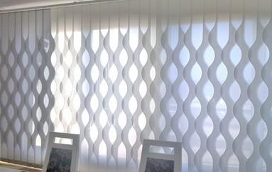 Cortinas de lamas verticales con formas premier blanco - Formas de cortinas ...